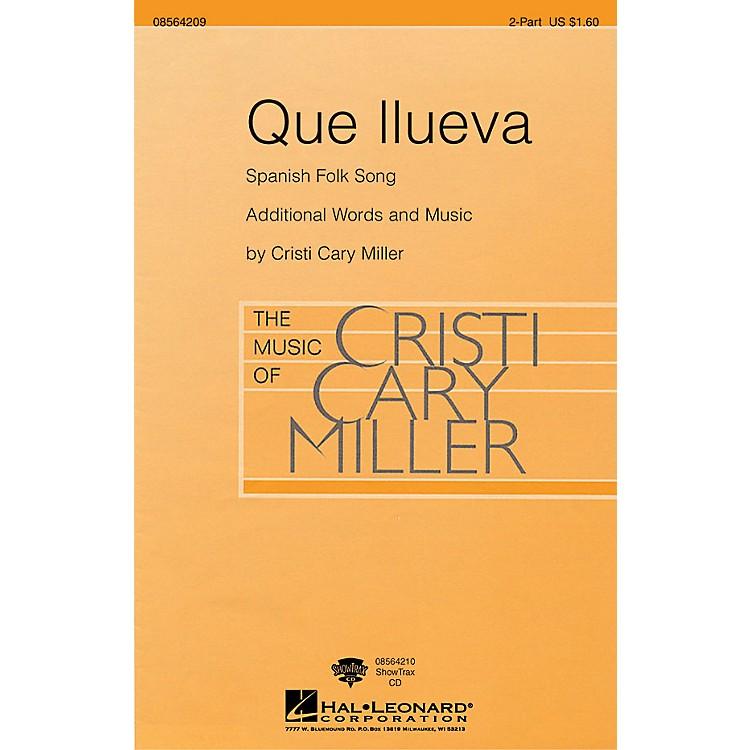 Hal LeonardQue Llueva 2-Part arranged by Cristi Cary Miller