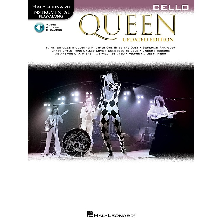 Hal Leonard Queen - Updated Edition Cello Instrumental Play-Along Songbook Book/Audio Online