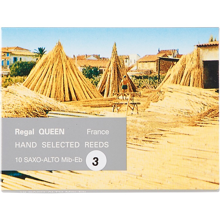 Rigotti Queen Reeds for Alto Saxophone Strength 2.5 Box of 10