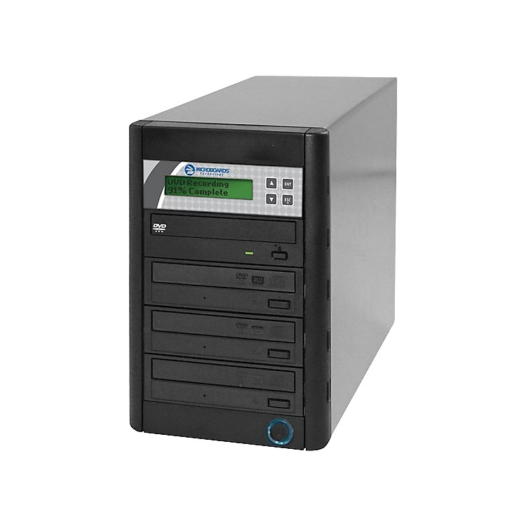 Microboards Quic Disc DVD H123, Economy CD/DVD Duplicator 1:3 with Hard-Drive