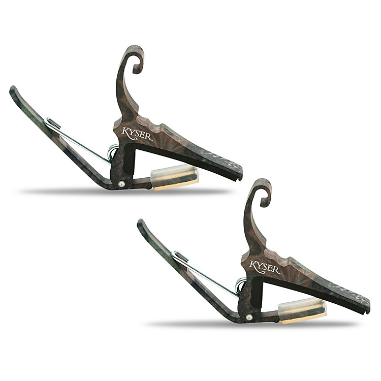 Kyser Quick-Change Capo 2-Pack for 6-String Acoustic Guitar Camouflage