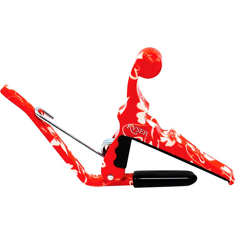 KyserQuick-Change Ukulele Capo - Red Hibiscus