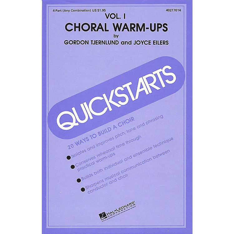 Hal LeonardQuickstarts Choral Warm-Ups (Vol. I) 4 Part Any Combination composed by Joyce Eilers