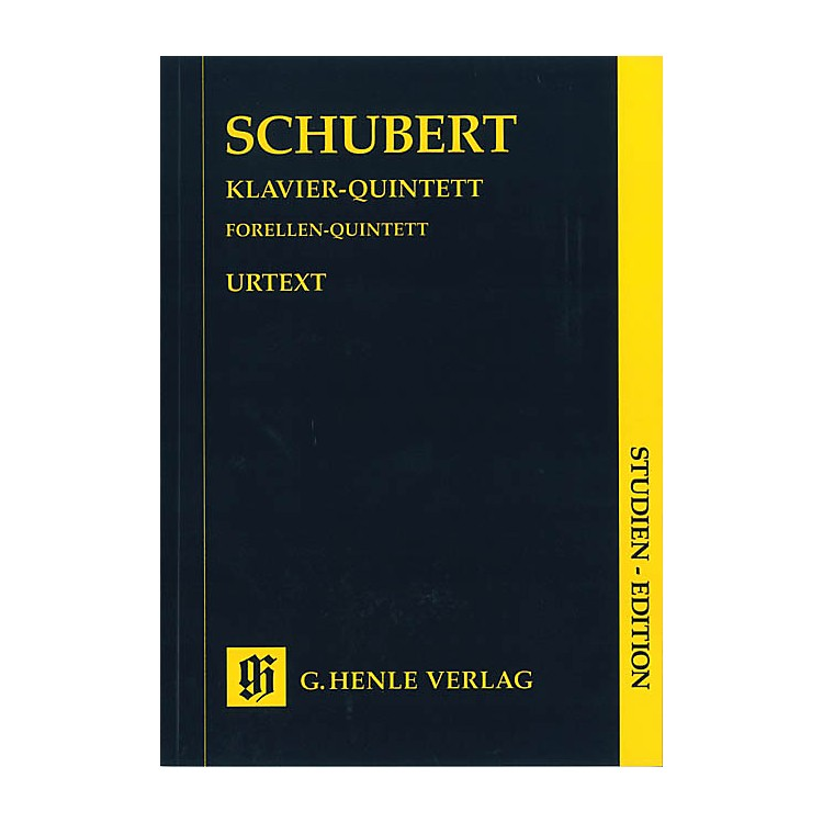 G. Henle VerlagQuintet A Major Op. Posth. 114 D 667 The Trout Henle Study Scores Series Softcover by Franz Schubert