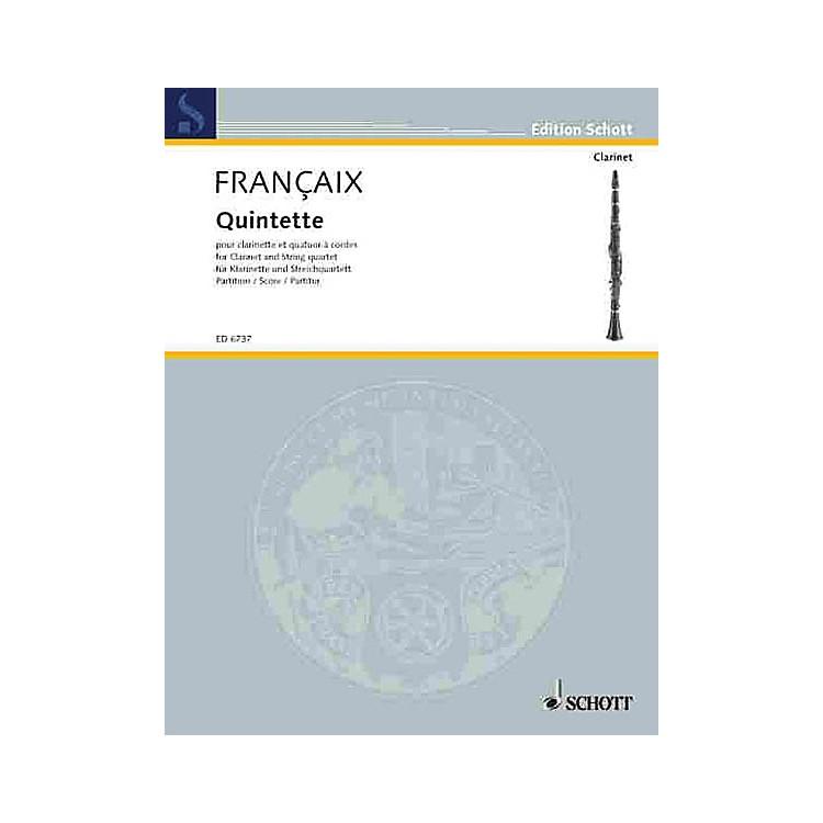 Schott MusicQuintet (Score) Schott Series Composed by Jean Françaix