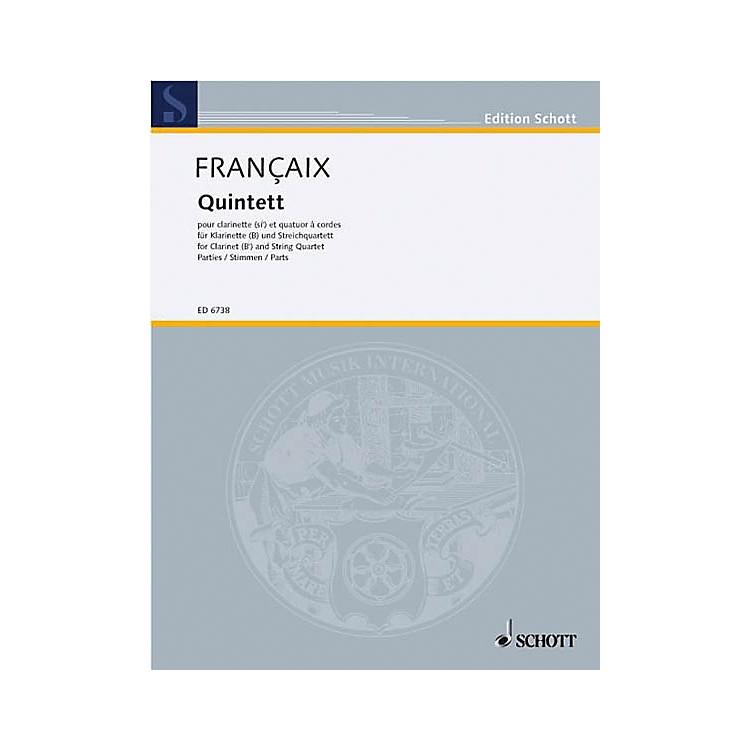 Schott MusicQuintet (Set of Parts) Schott Series Composed by Jean Françaix