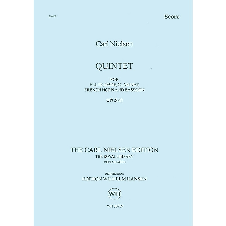 Wilhelm Hansen Quintet for Wind Op. 43 Music Sales America Series by Carl Nielsen