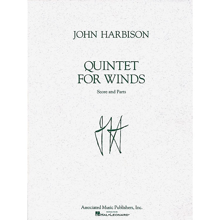 Associated Quintet for Winds (Score and Parts) Woodwind Ensemble Series Composed by John Harbison