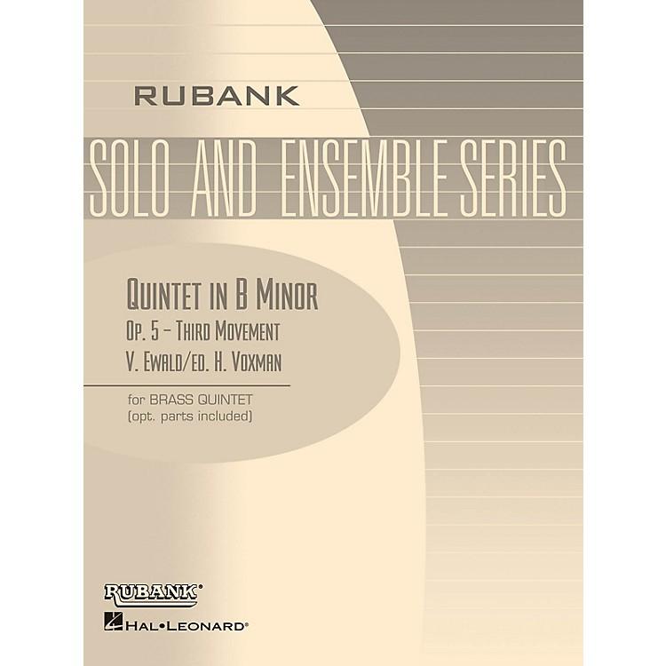 Rubank PublicationsQuintet in B Minor, Op. 5 - Third Movement (Brass Quintet - Grade 5) Rubank Solo/Ensemble Sheet Series