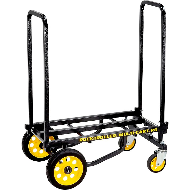 Rock N Roller R6RT Multi-Cart 8-in-1 Equipment Transporter Cart Black Frame/Yellow Wheels Mini