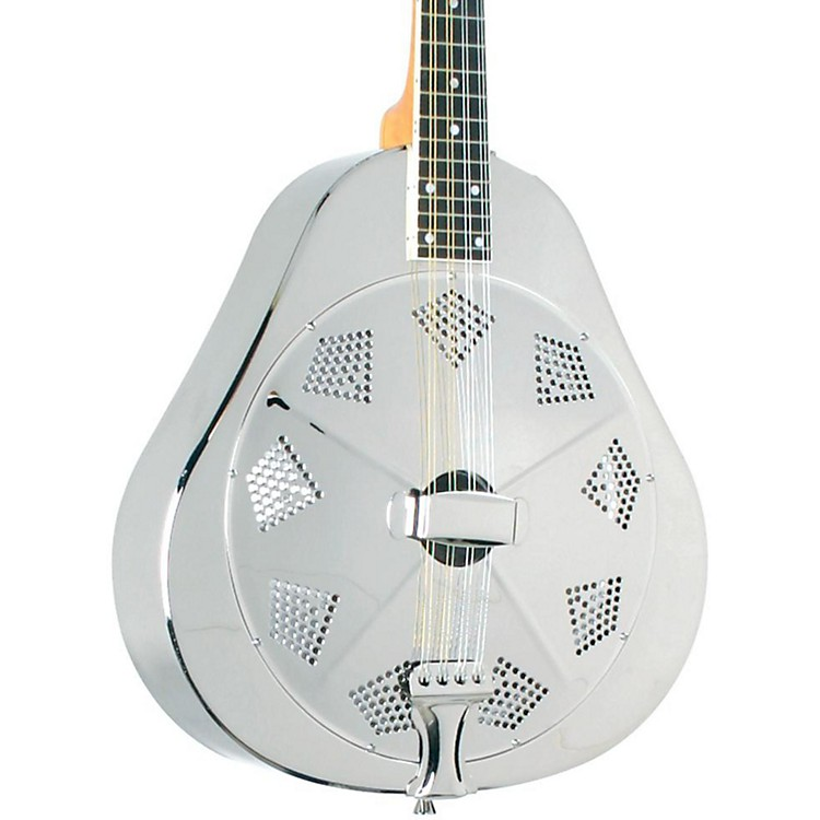 Recording King RA-998 Metal Resonator Mandolin Engraved Nickel/Silver