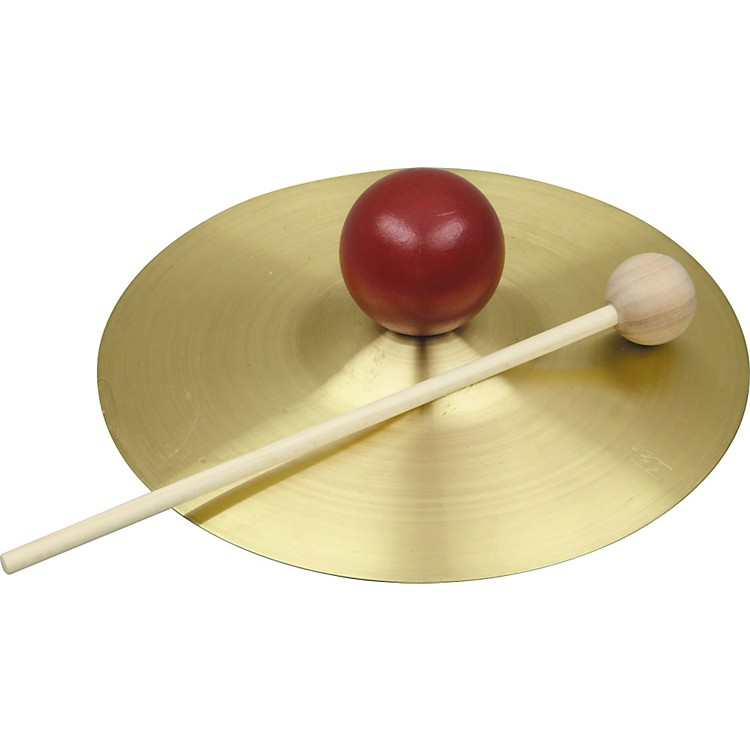 Rhythm BandRB733S Solid Brass Cymbal with Knob and Mallet