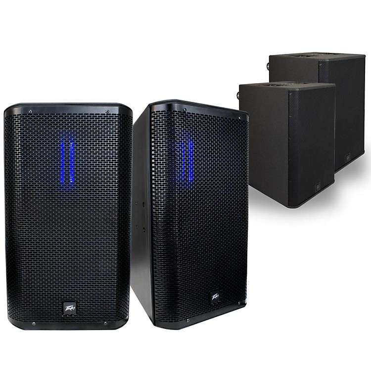 PeaveyRBN 112 Ribbon Enclosure with RBN 215 Powered Sub Pair