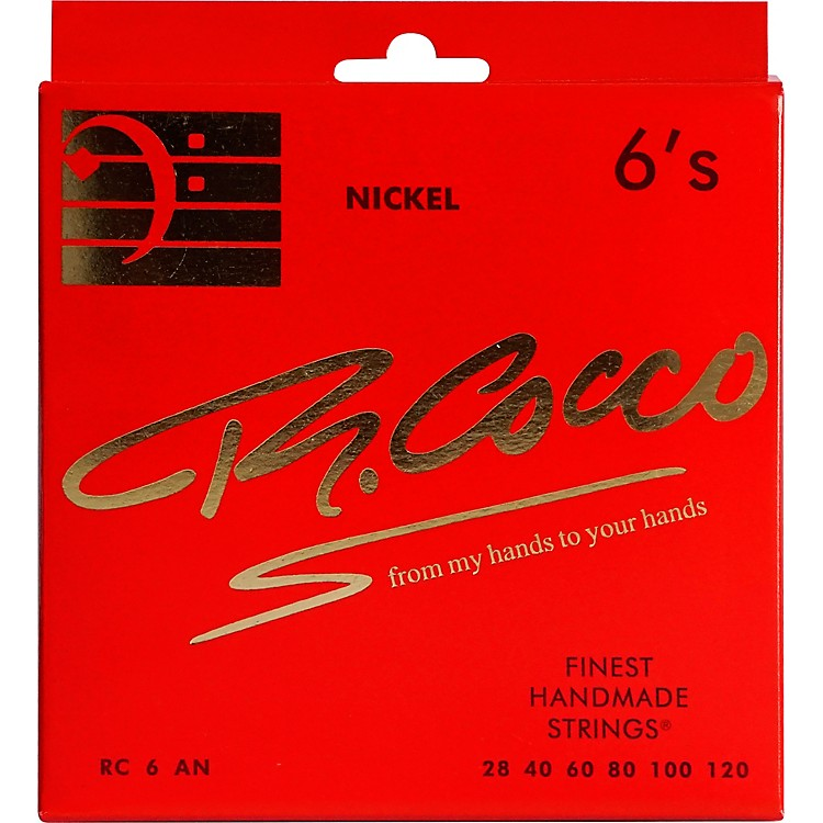 Richard Cocco RC6AN 6-String Nickel Electric Bass Guitar Strings