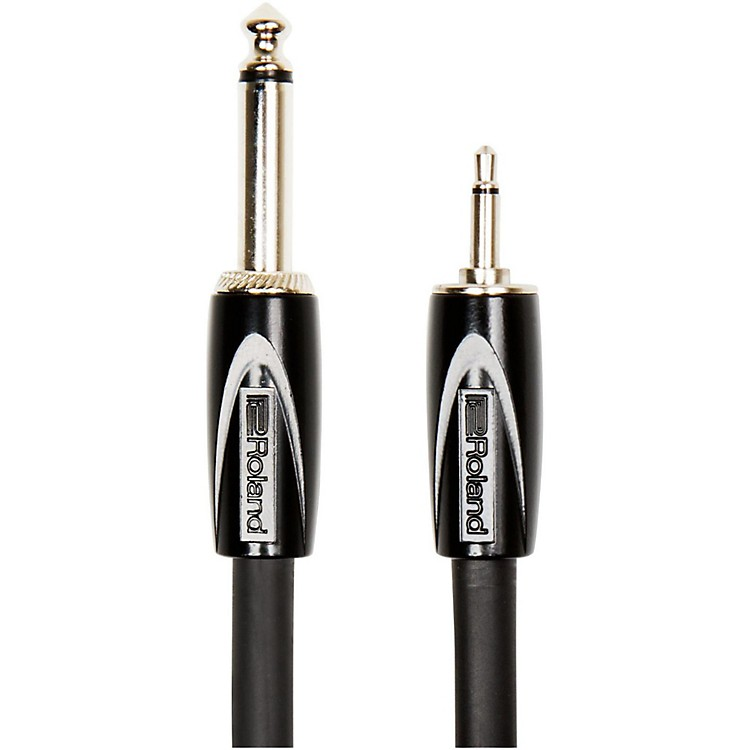 RolandRCC-3514 Black Series Interconnect Cable 3.5mm (Mono) to 1/4 in. (Mono)3 ft.