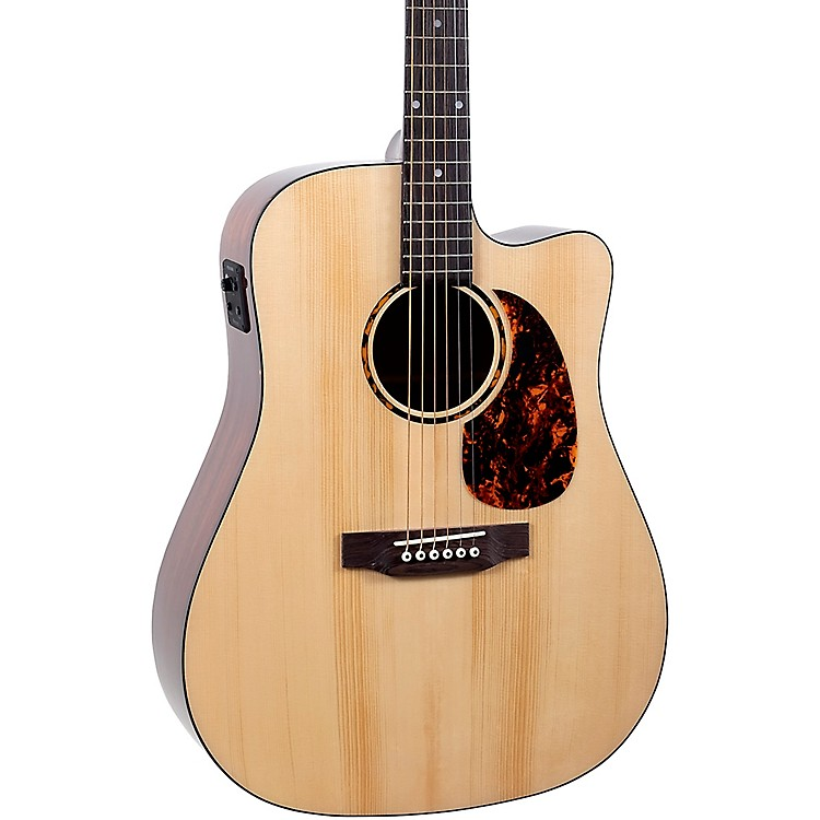 Recording KingRD-G6-CFE5 Solid Top Dreadnought Cutaway Acoustic-Electric GuitarNatural