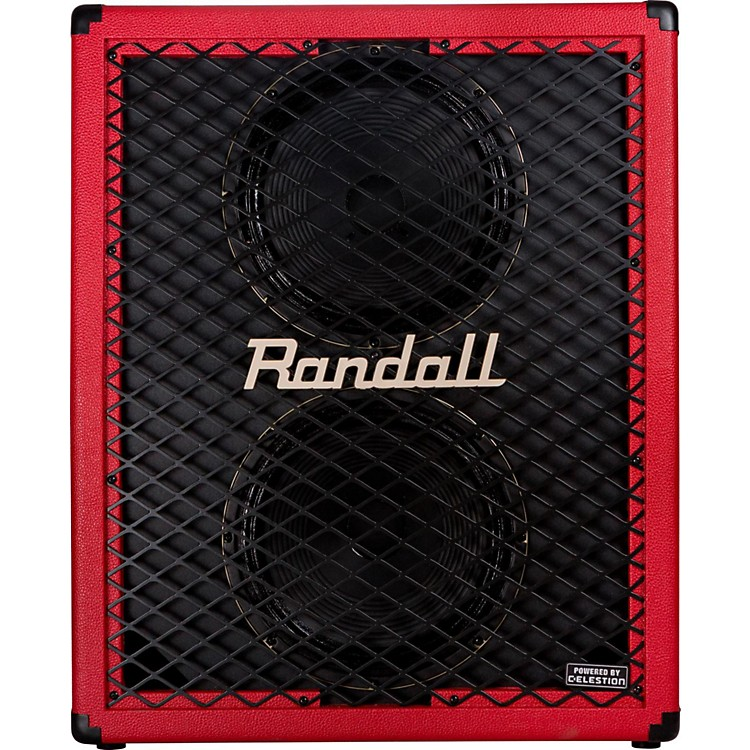 RandallRD212-UV 2x12 Upright Guitar Speaker CabinetRed