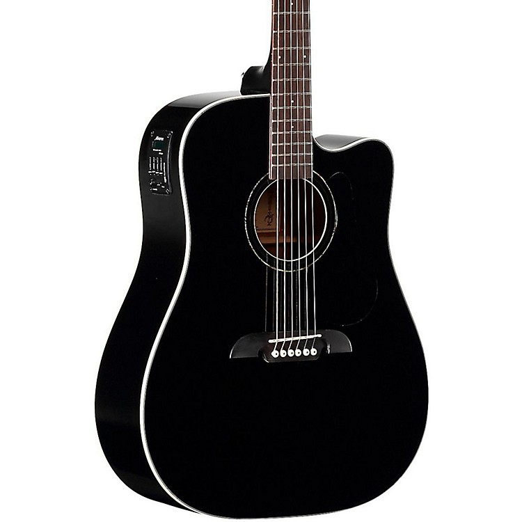 AlvarezRD260CEBK Dreadnought Acoustic-Electric GuitarBlack