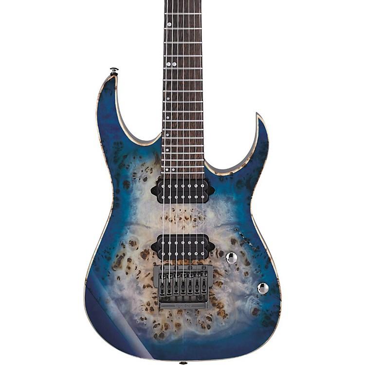 ibanez rg premium 7 string electric guitar cerulean blue burst music123. Black Bedroom Furniture Sets. Home Design Ideas