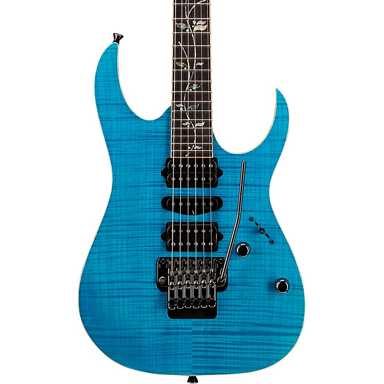 IbanezRG8570Z j.custom Electric GuitarTransparent Blue