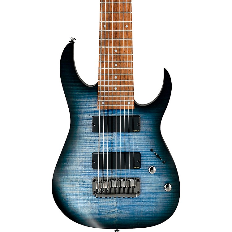 IbanezRGIR9FME Iron Label 9-String Electric GuitarFaded Denim Flat