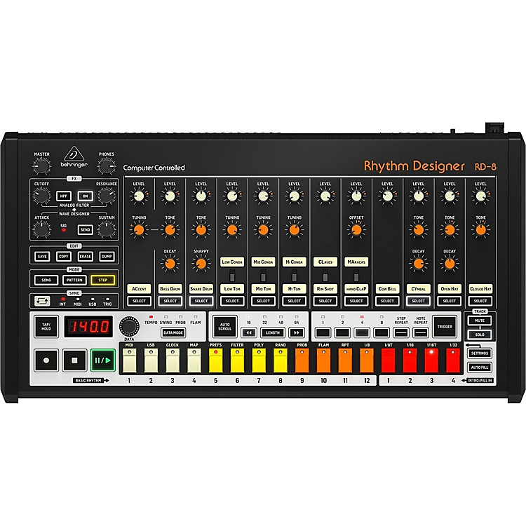 Behringer RHYTHM DESIGNER RD-8 Classic Analog Drum Machine