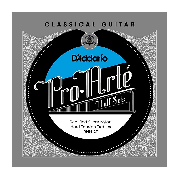 D'Addario RNH-3T Pro-Arte Hard Tension Classical Guitar Strings Half Set