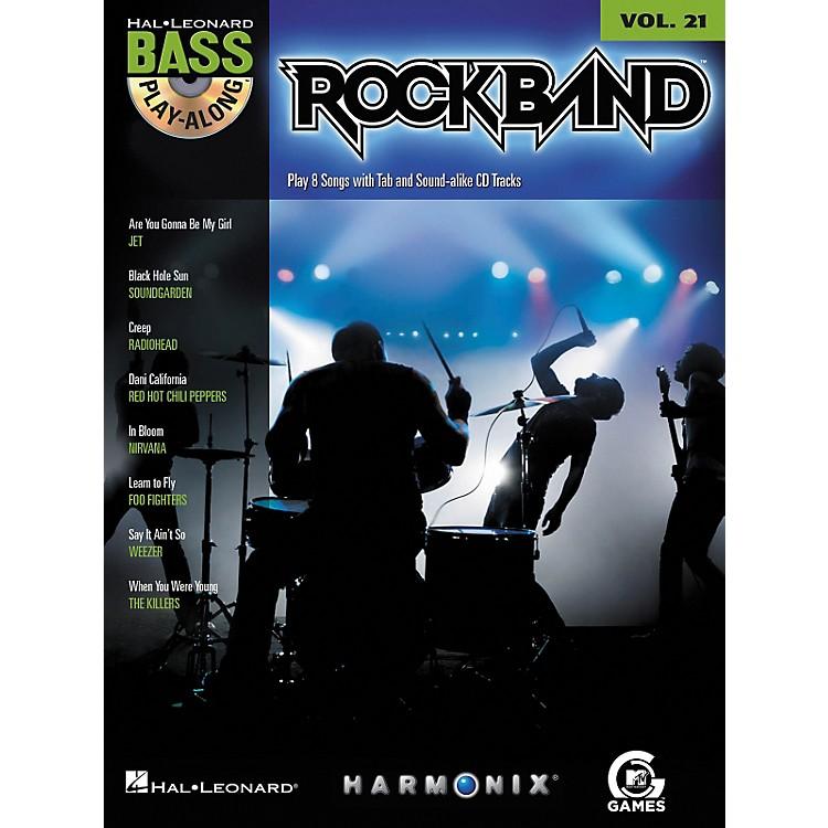 Hal LeonardROCK BAND - BASS PLAY-ALONG (MODERN ROCK EDITION) VOLUME 21 BOOK/CD