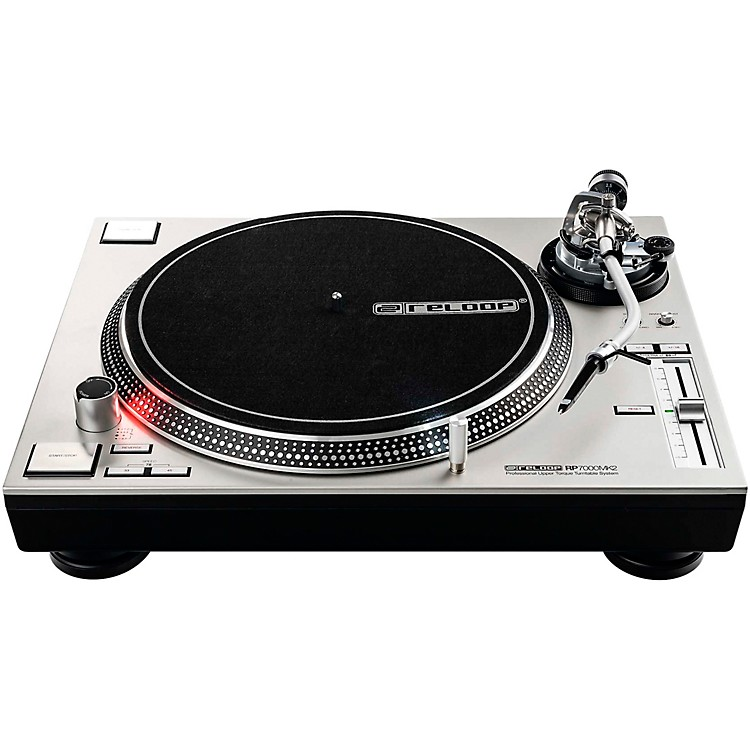Reloop RP-7000-MK2 Professional Direct-Drive Turntable (Silver)