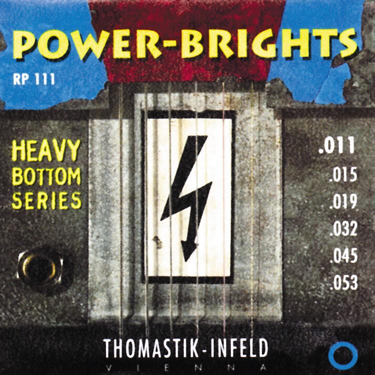 ThomastikRP111 Power-Brights Heavy Bottom Medium Top Electric Guitar Strings