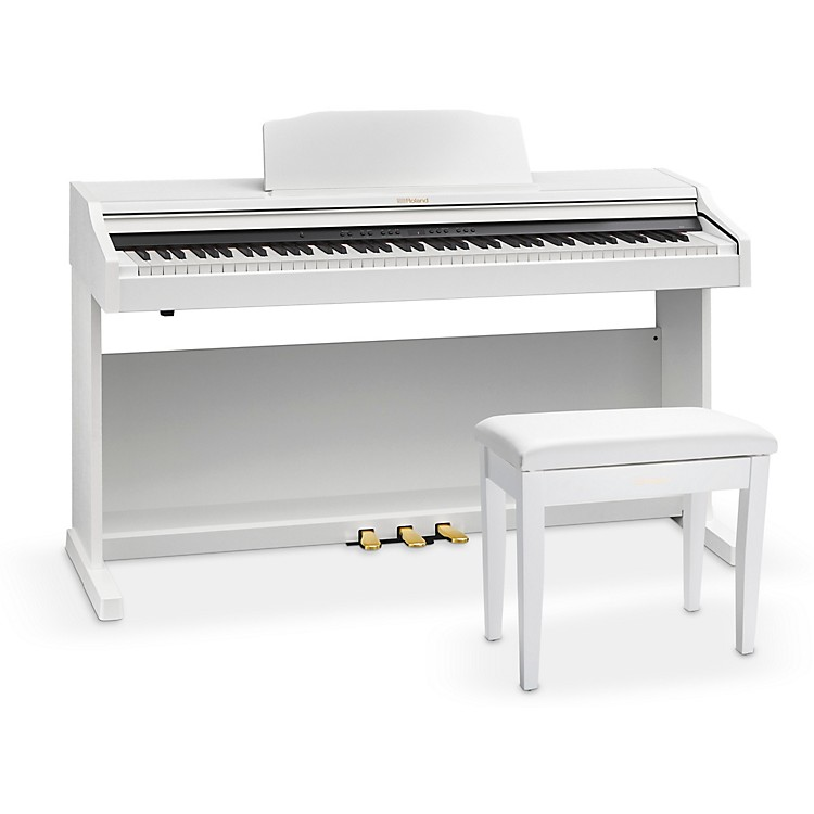 RolandRP501R Digital Home Piano with Bench White