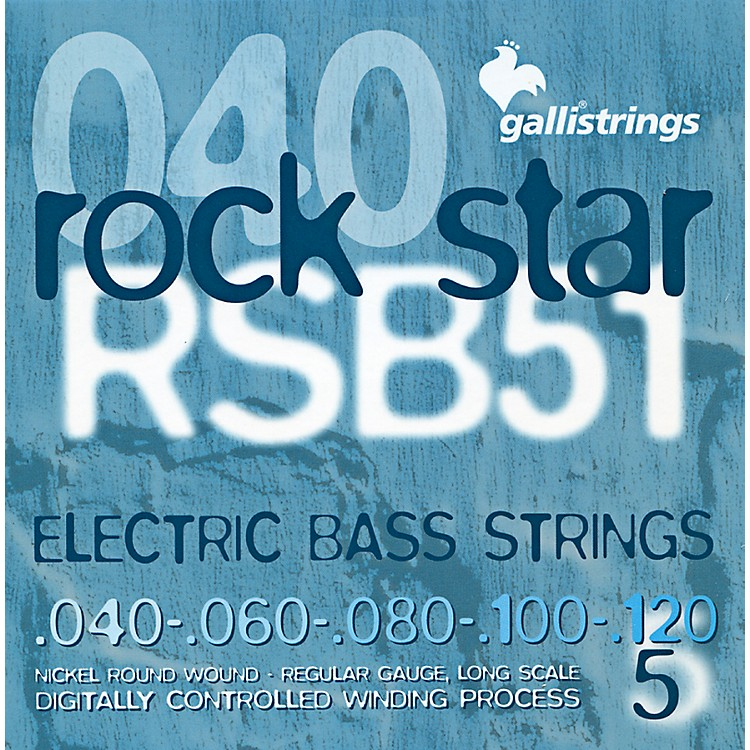 Galli Strings RSB51 ROCKSTAR 5-String Regular Bass Strings 40-120