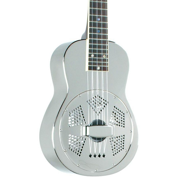 Recording King RU-998 Metal Resonator Ukulele Nickel/Silver