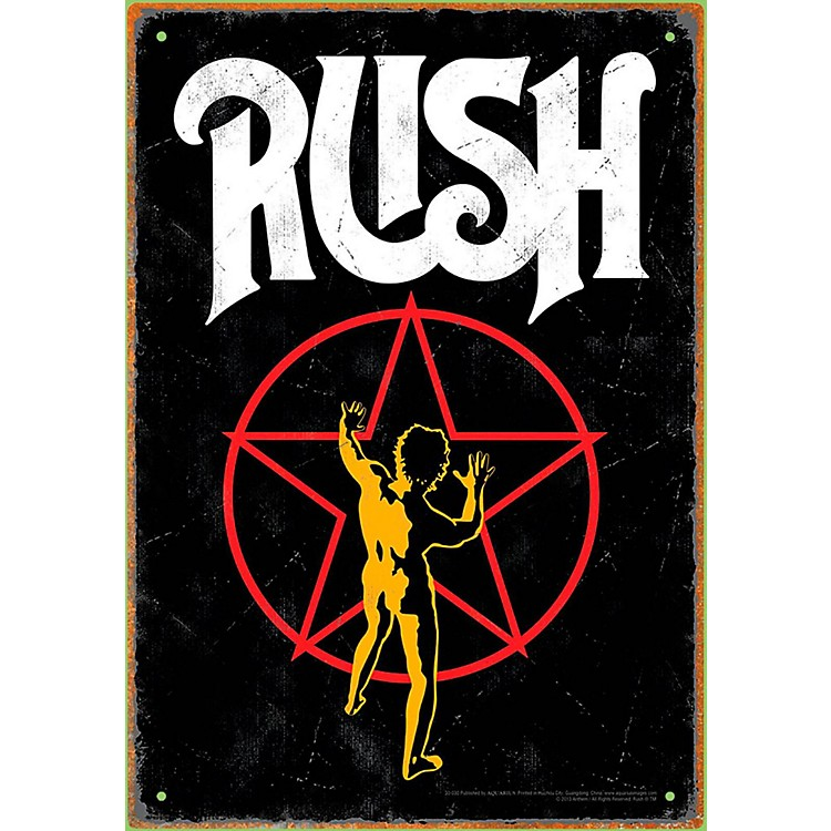 Hal Leonard RUSH Starman Tin Sign