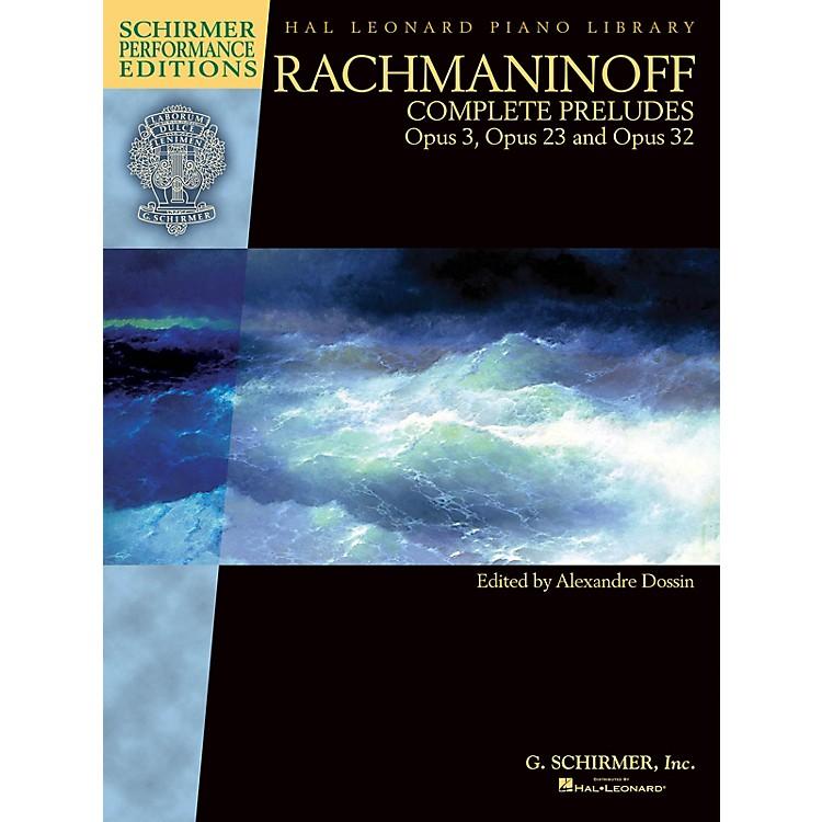 G. SchirmerRachmaninoff - Complete Preludes for Piano, Op. 3, 23, and 32 Schirmer Performance Edition