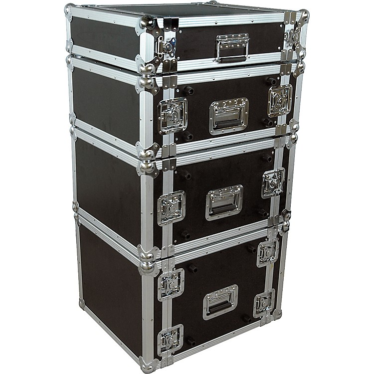 Musician's Gear Rack Flight Case 8 Space Black