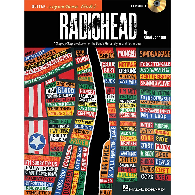 Hal Leonard Radiohead - Guitar Signature Licks - A Step-By-Step Breakdown Book/CD