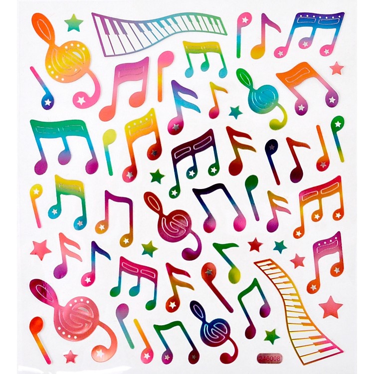 AIMRainbow Musical Note Stickers