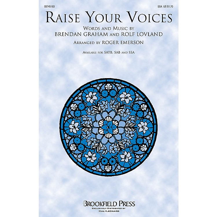 Brookfield Raise Your Voices SSA by Secret Garden arranged by Roger Emerson