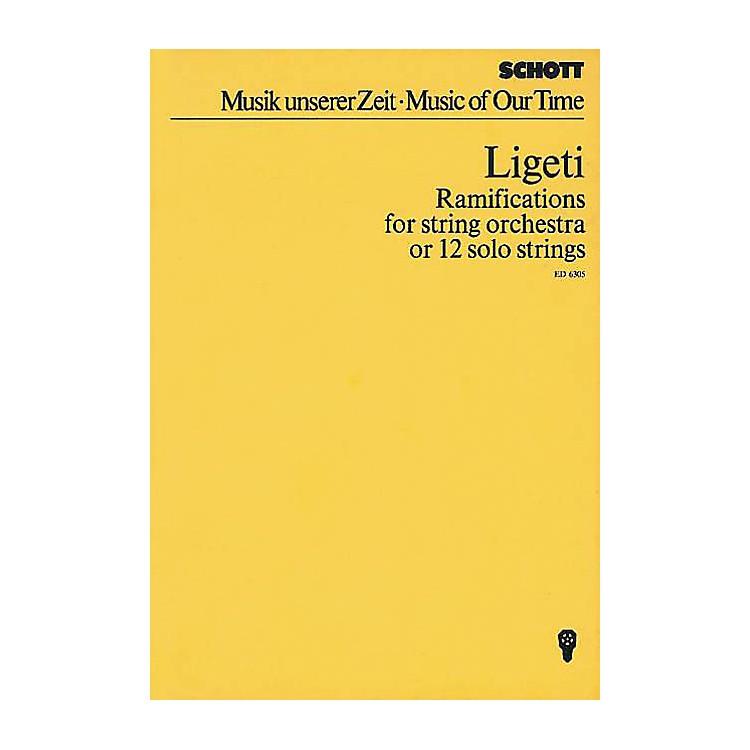 SchottRamifications (Study Score) Schott Series Composed by György Ligeti