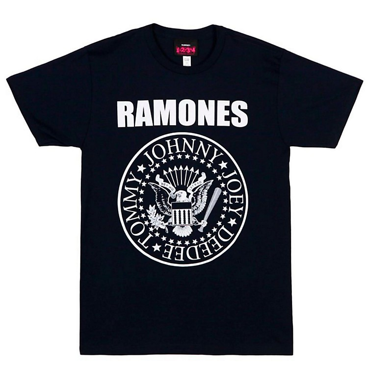 The Ramones Ramones Presidential Seal Men's Tee Small Black