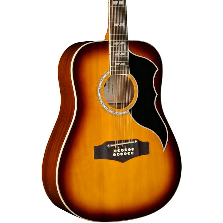 EKO Ranger XII Vintage Reissue 12-String Dreadnought Acoustic-Electric Guitar Natural