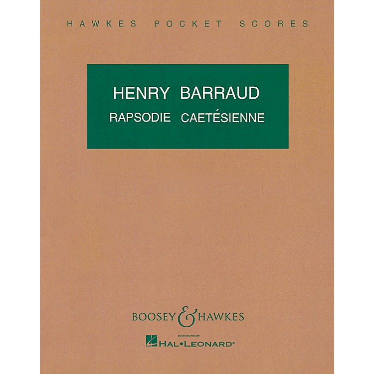 Boosey and HawkesRapsodie Cartesienne Boosey & Hawkes Scores/Books Series Composed by Henry Barraud