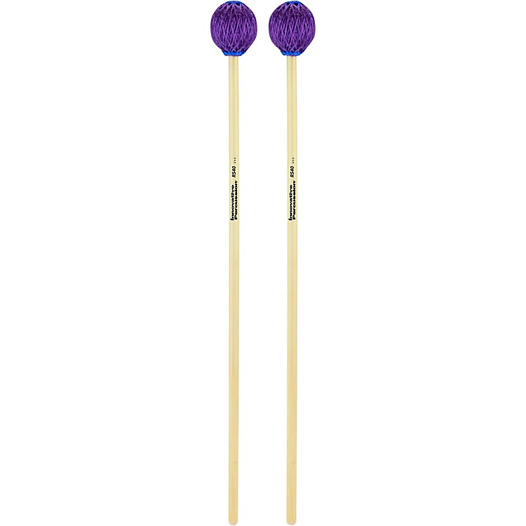 Innovative PercussionRattan Series Vibraphone/Marimba MalletsHardPurple Yarn