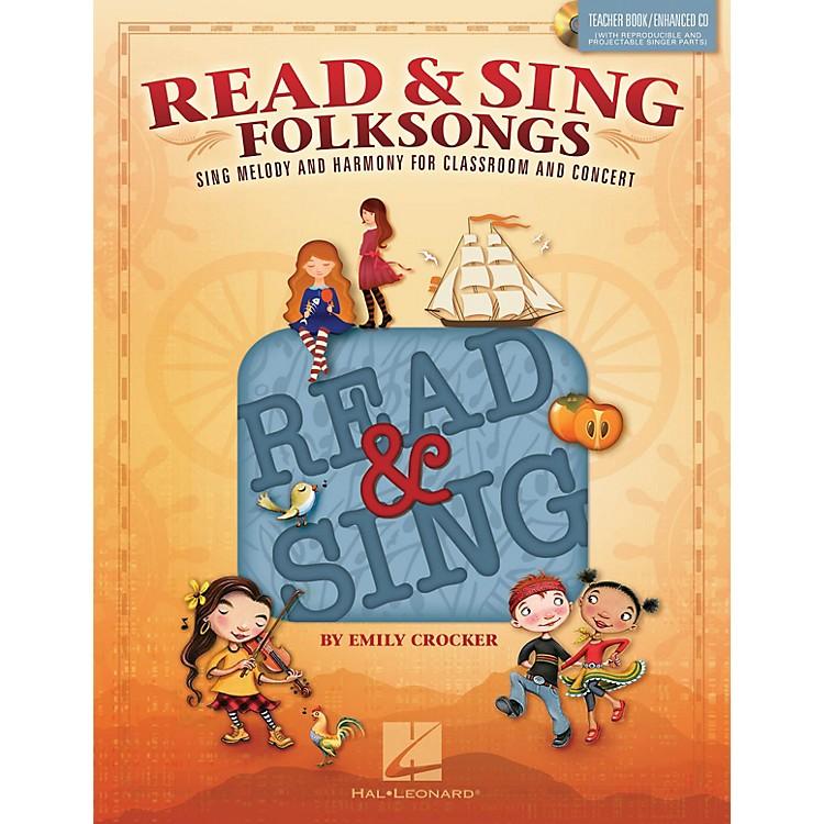 Hal LeonardRead & Sing Folksongs Teacher Book w/Enhanced CD Composed by Emily Crocker