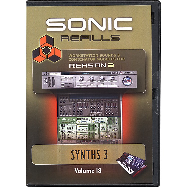 Sonic Reality Reason 3 Refills Vol. 18: Synths 3