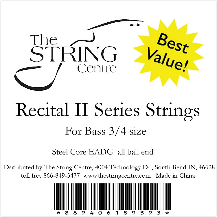 The String Centre Recital II Bass String Set 3/4 Size set