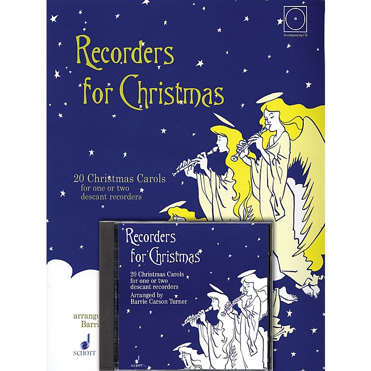 SchottRecorders for Christmas (20 Christmas Carols for One or Two Recorders) Schott Series Softcover with CD