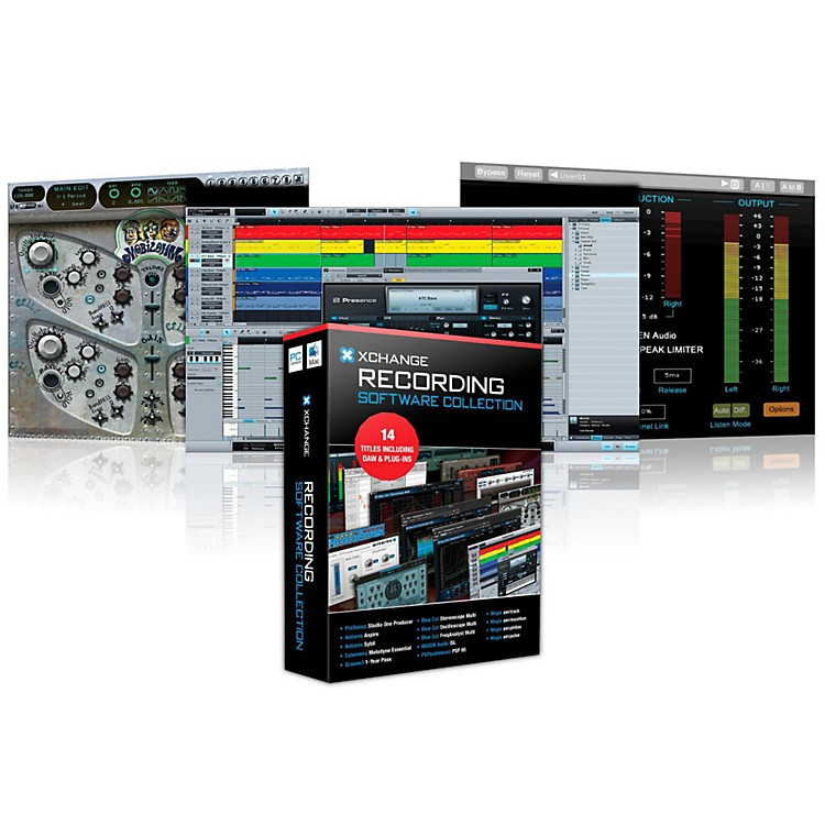 XCHANGE Recording Collection with PreSonus, Antares, Celemony, Blue Cat Audio, Ohm Force, and Magix