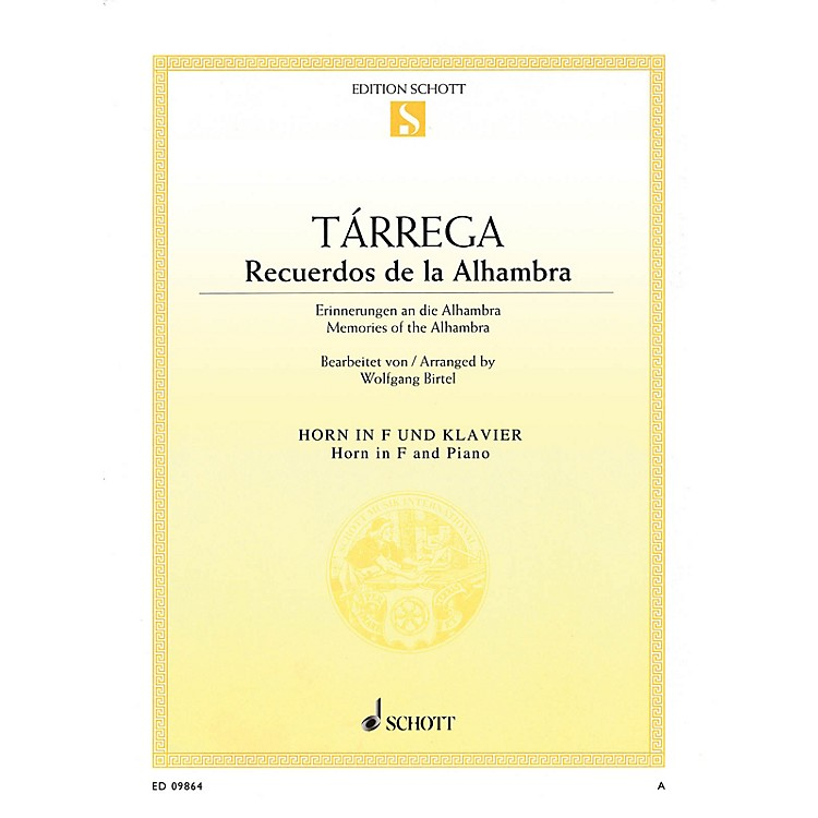 SchottRecuerdos de la Alhambra (Horn and Piano) Brass Series